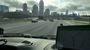 Dave snaps a view of Atlanta as we head down the road.