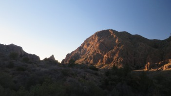 The sun sets on our second day at Big Bend