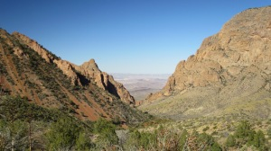 View of the 'Window' from the Chisos Basin loop trail.