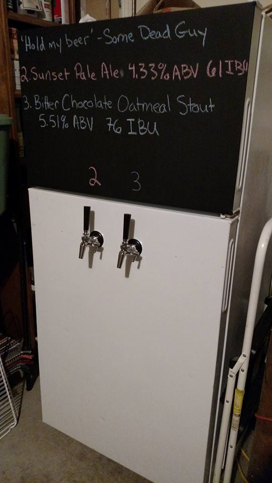 February 12, 2016: Sunset Pale Ale and Bitter Chocolate Oatmeal Stout