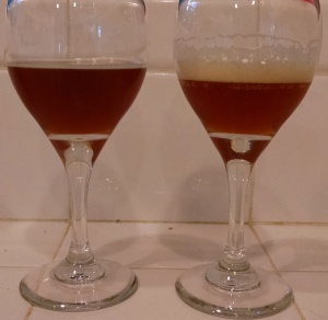 Two temperature mash on left, single temperature on right.
