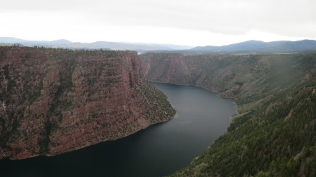 View from the Red Canyon Campground in Flaming Gorge National Recreation Area.