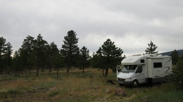 Abby in our campsite at Red Canyon.