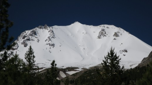Mount Lassen with a fresh coat of snow.