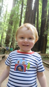 Alex on the path in Muir Woods.