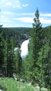 Waterfall in Yellowstone.