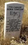 Marker memorializing the cavalry horses that were killed during the Battle of Little Bighorn.
