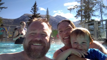 Banff Upper Hot Springs selfie.