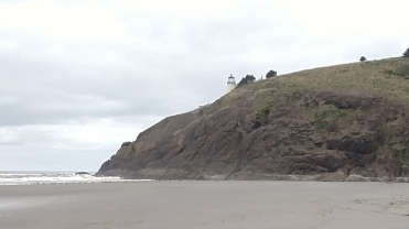 Lighthouse at Cape Disappointment in Washington.