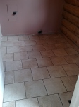 Tiles post grout. The grout will dry a little lighter than what is pictured.