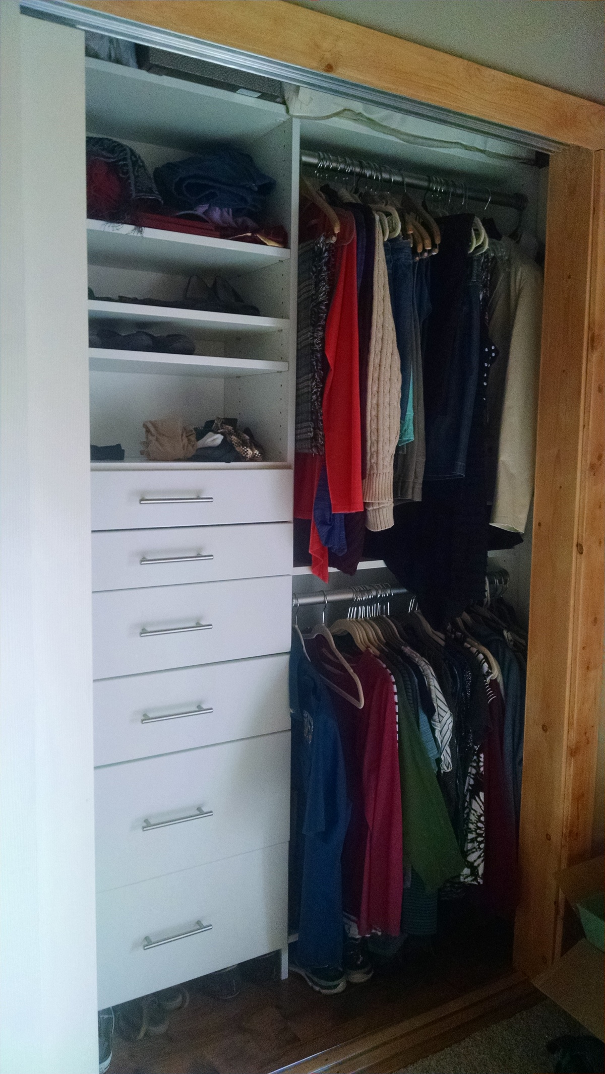 Master Bedroom: Finished Closet